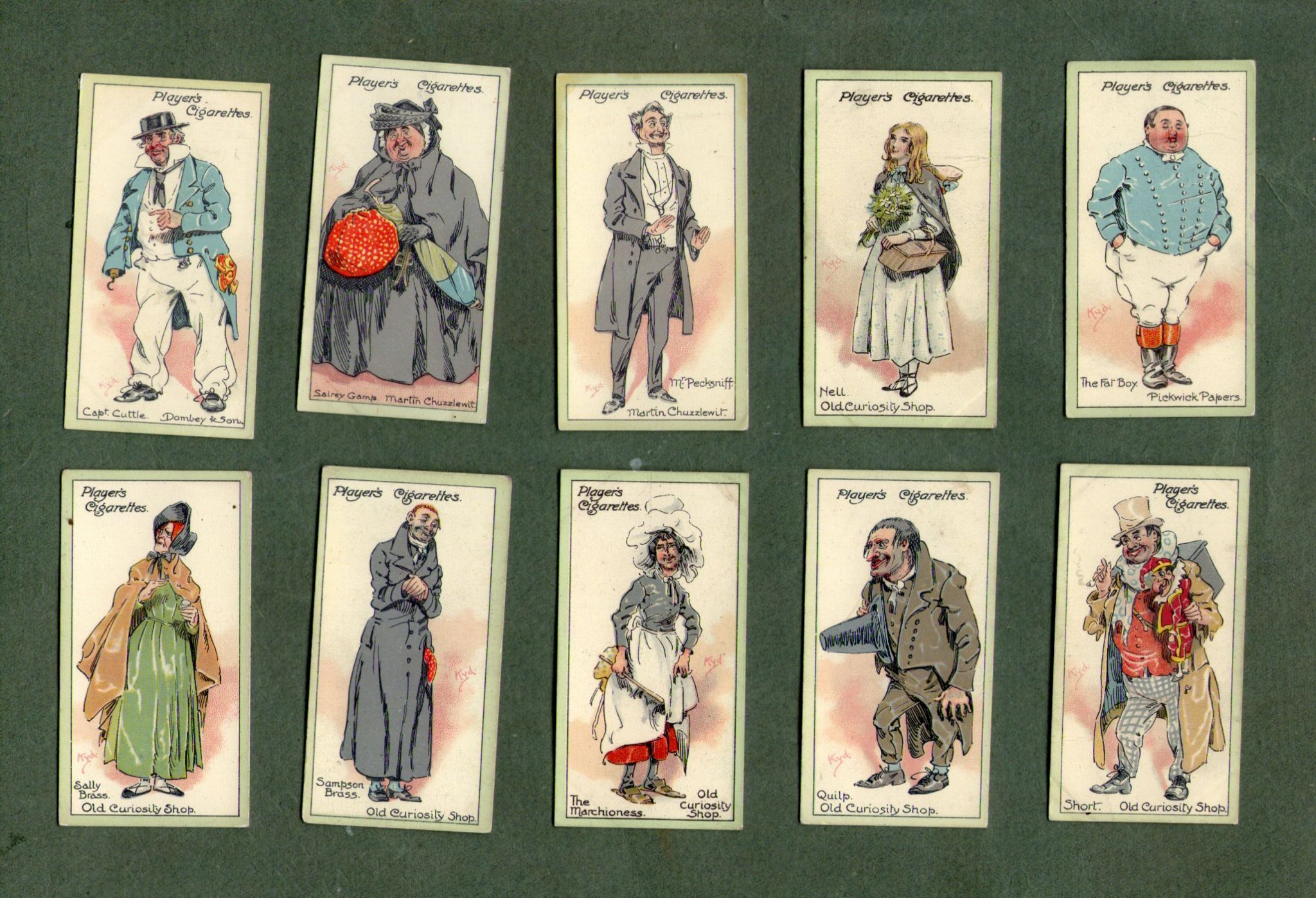 collectable cigarette cards characters from dickens oliver twist   scrooge collectable cigarette cards characters from dickens oliver twist